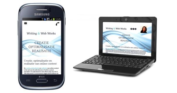 Een responsive website past zich aan: op ieder scherm zichtbaar dus bruikbaar!